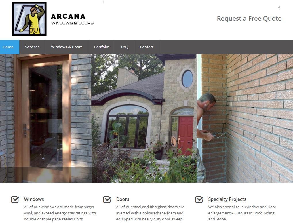 arcanawindows.com 2013 Homepage