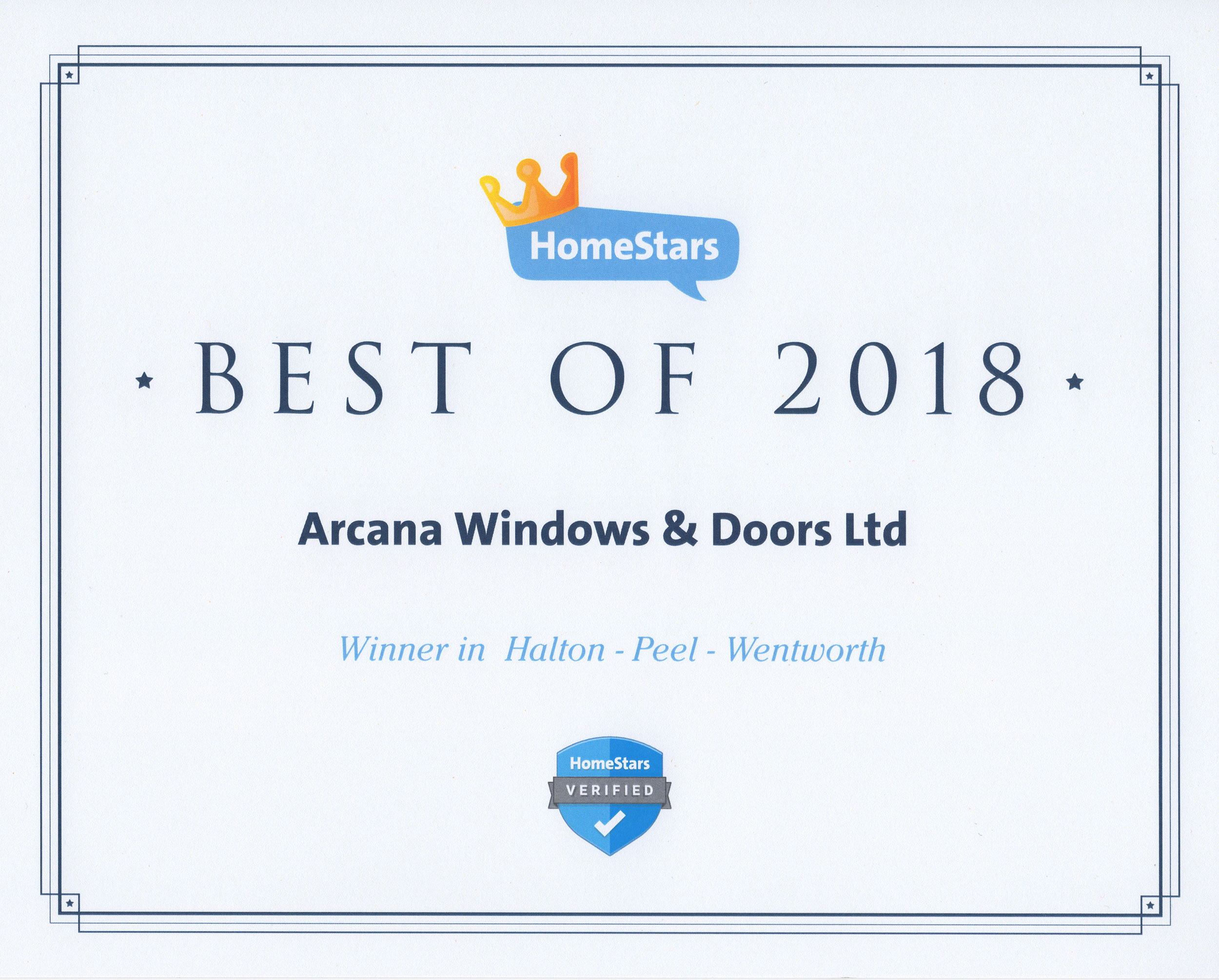 Arcana Best of Homestars 2018