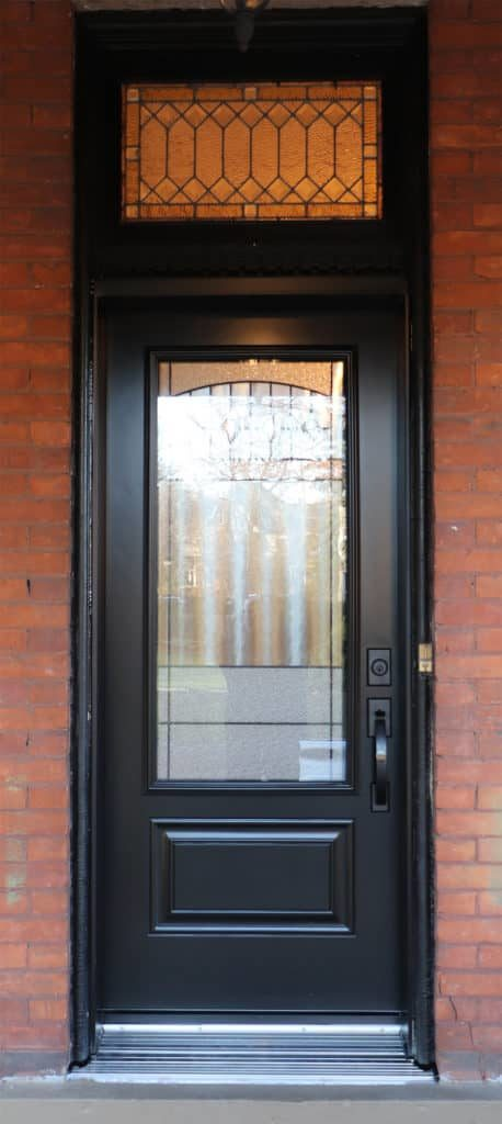 door installation with transom