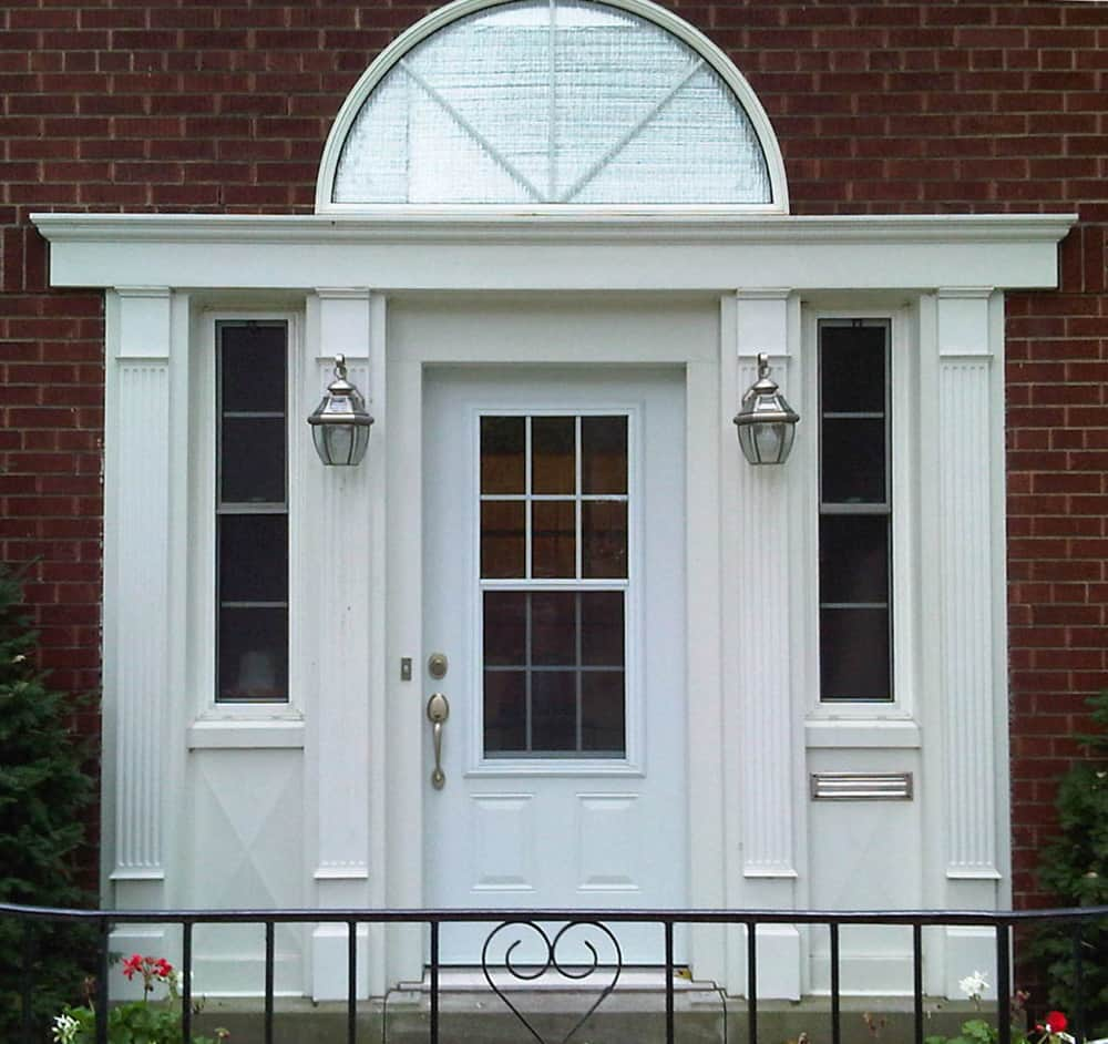 door with sidelites and transom