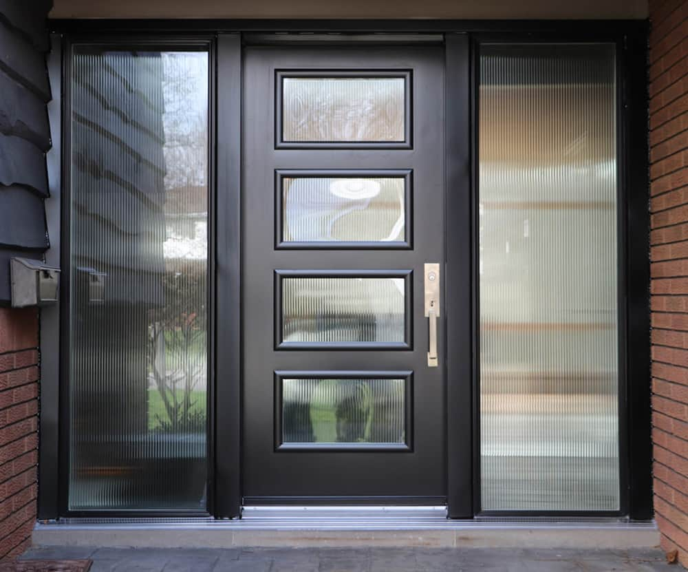 entrance door direct glaze sidelites