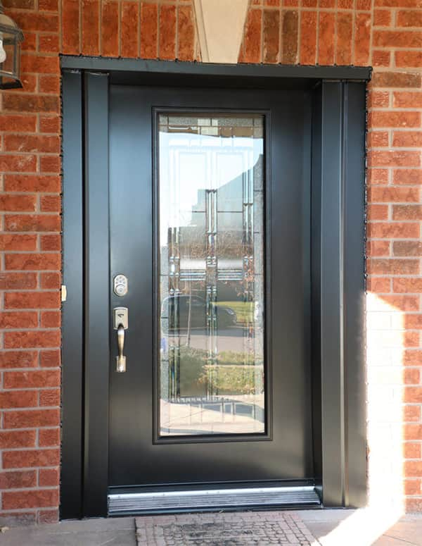 entrance door full lite artisan black