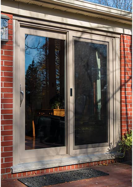patio door beige exterior