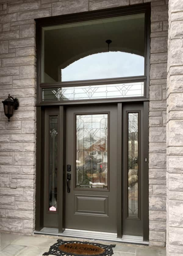 single door with sidelites and transom