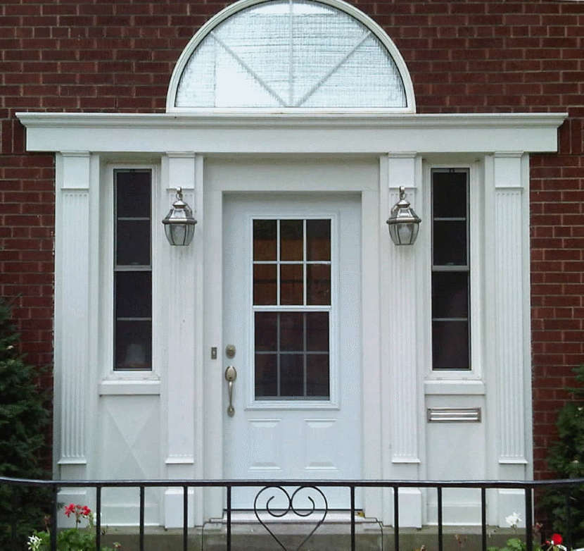 house flipping door with transom