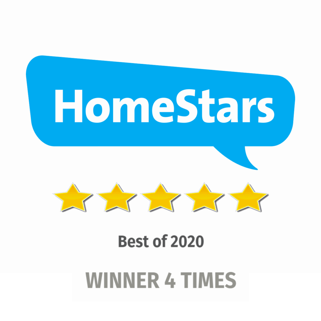 HomeStars Five Stars Best Of for 4 years